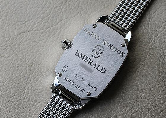 ハリーウィンストン EMEQHM18WW008 レディース エメラルド WG 白シェル文字盤 クォーツ ブレスレット