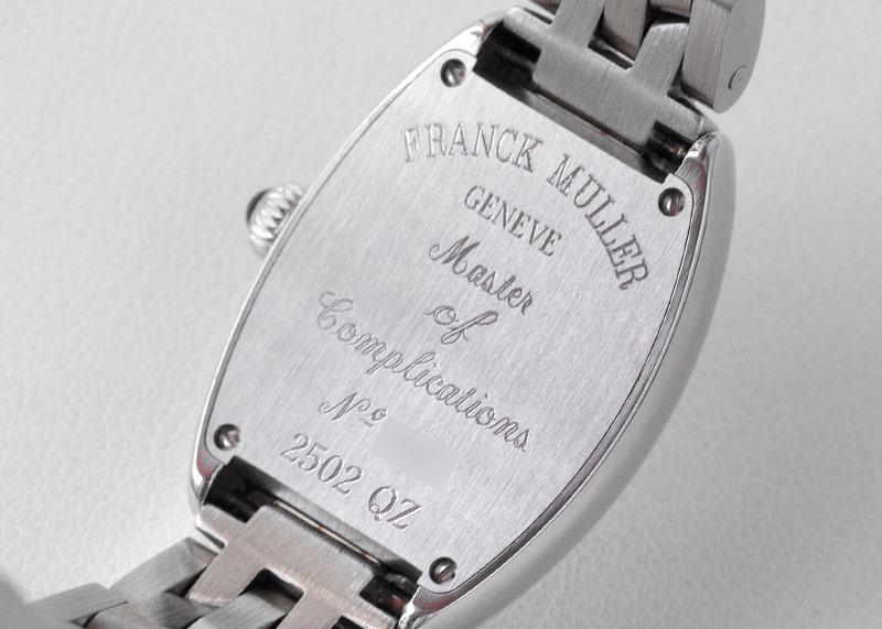 フランクミュラー 2502QZ トノーカーベックス プティ SS シルバー文字盤 クォーツ ブレスレット【未使用品】