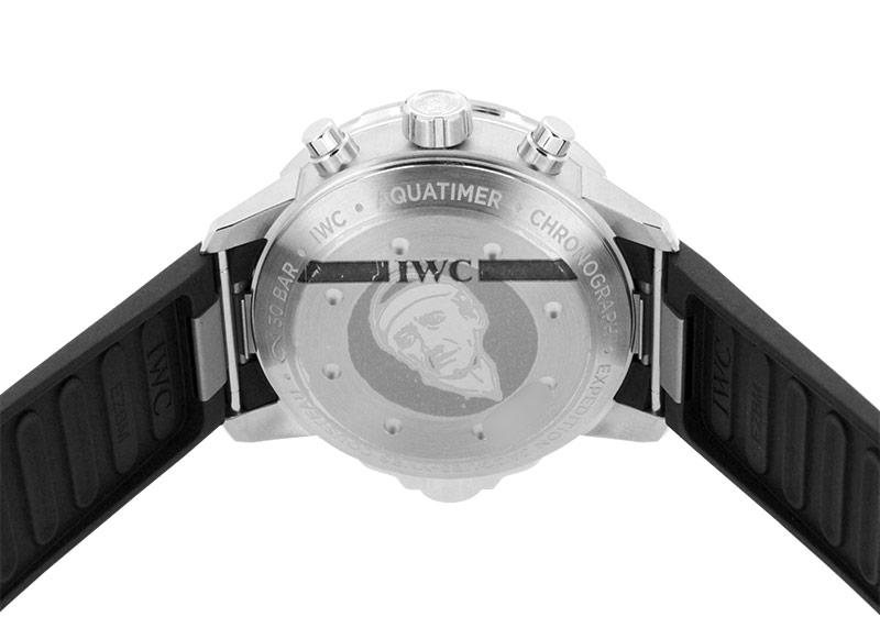 IWC IW376805 アクアタイマークロノグラフ エクスペディション ジャック=イヴ・クストー SS ブルー文字盤 自動巻き ラバー