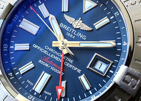【中古】ブライトリング A329C72PSS アベンジャー� GMT SS ブルー文字盤 自動巻き ブレスレット