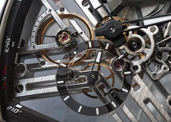 フランクミュラー V45 S6 SQT AC NR ヴァンガード 7デイズ パワーリザーブ スケルトン SS スケルトン文字盤 手巻き クロコダイル/ラバー