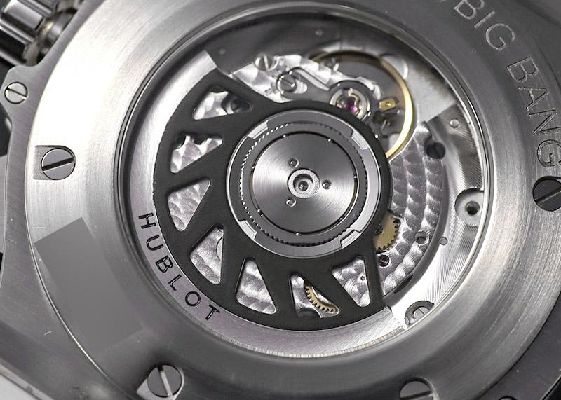 【未使用品】ウブロ 342.SE.230.RW.174 ビッグバン サンモリッツ ダイヤモンド クロノグラフ SS 白文字盤 自動巻き ラバー