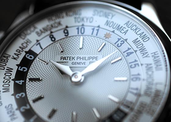 【中古】パテックフィリップ 5110G-001 ワールドタイム WG シルバー文字盤 自動巻き レザー