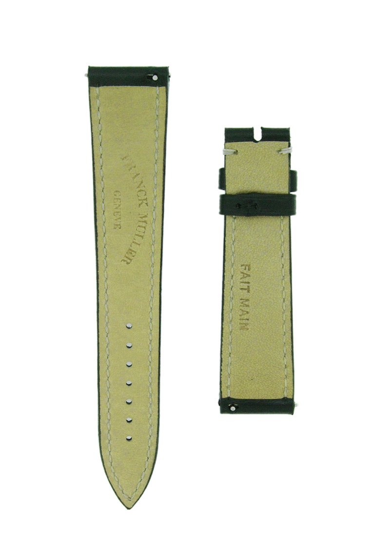フランクミュラー レザーストラップ 6850用 カーフ ブラック 19-16mm