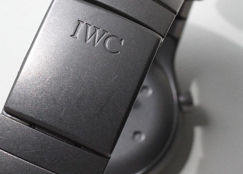 【ヴィンテージ】ポルシェデザイン by IWC 3503(11103) オーシャン500 TI 黒文字盤 自動巻き ブレスレット