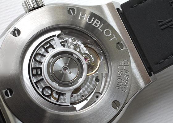ウブロ  547.NX.0170.LR  クラシックフュージョン アエロフュージョン ムーンフェイズ チタニウム 42mm TI スケルトン文字盤 自動巻き ラバーアリゲーター