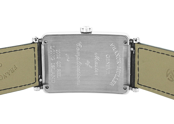 フランクミュラー 1002QZ RELIEF ロングアイランド レリーフ SS シルバー文字盤 クォーツ レザー