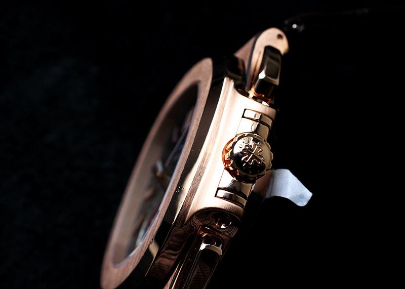 【中古】パテックフィリップ 5980R-001 ノーチラスクロノグラフ RG ブラウン文字盤 自動巻き レザー