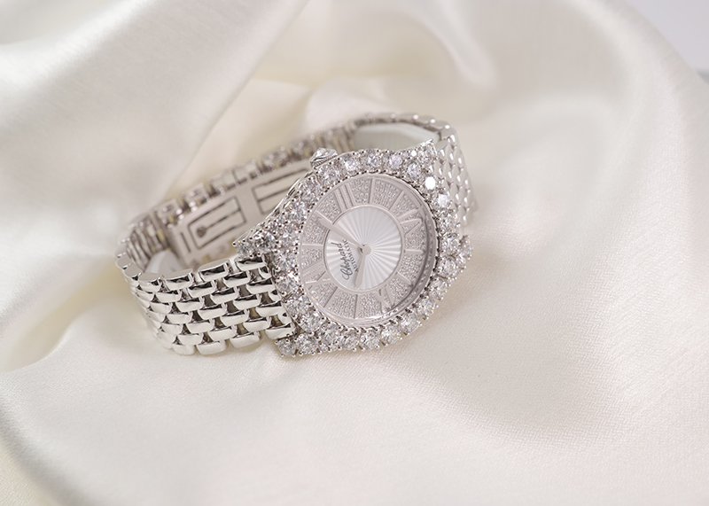 ショパール 109419-1401 ルール ドゥ ディアマン ミディアム WG ダイヤモンド文字盤 自動巻き ブレスレット