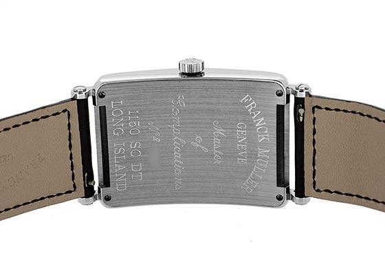 フランクミュラー 1150SCDT ロングアイランド デイト SS シルバー文字盤 自動巻き レザー(艶あり)