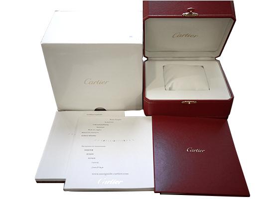【中古】カルティエ W6920038 レディース バロンブルーSM SS ピンク文字盤 クォーツ ブレスレット