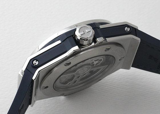 ウブロ 465.SX.7170.LR.1204 レディース ビッグ・バン ワンクリック スチール ブルー ダイヤモンド SS ブルー文字盤 自動巻き アリゲーター/ラバー