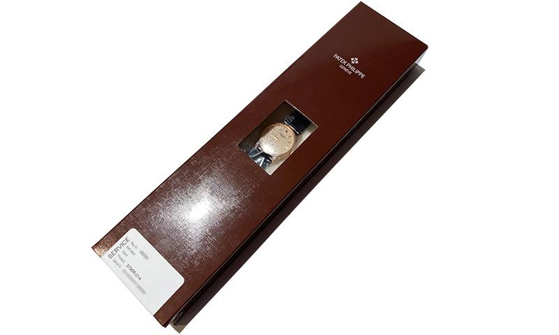 【レストア】パテックフィリップ 3796R-014 カラトラバ RG アイボリー文字盤 手巻き レザー【2000年製】