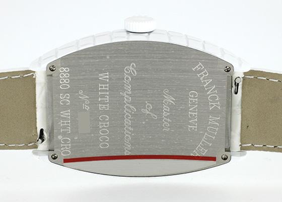 【即日ご注文可】フランクミュラー 8880SC WHT CRO トノーカーベックス ホワイトクロコ SS 白文字盤 自動巻き レザー