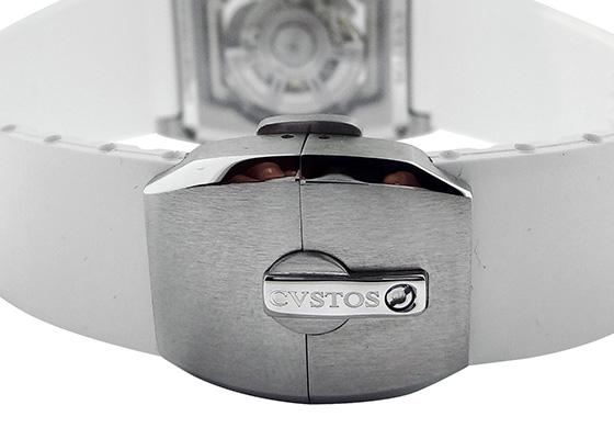 クストス CVT-SEA-ST チャレンジ シーライナー SS スケルトン文字盤 自動巻き ラバー ホワイト