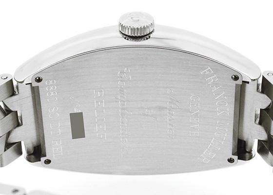 【即日ご注文可】フランクミュラー 8880SCDT トノーカーベックス デイト レリーフ SS 青文字盤 自動巻き ブレスレット