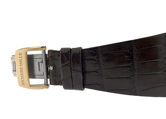 【中古】リシャール ミル RM016 オートマティック エクストラフラット RG スケルトン文字盤 自動巻き レザー