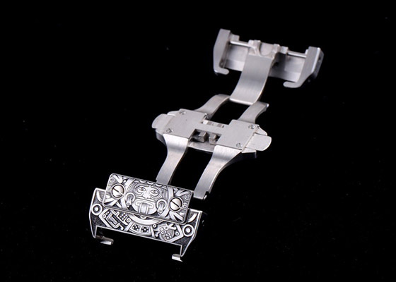 キンドラー&ソープ W20073X8 サントス100 LM SS 白文字盤 自動巻き レザー [MAYAN]