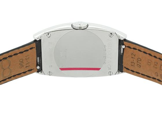 ベダ&カンパニー 384.010.600 レディース No.3 ロングトノー SS シルバー文字盤 クォーツ レザー