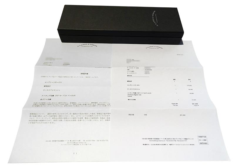 【中古】A.ランゲ&ゾーネ 403.035(LS4032AD) ダトグラフ PT 黒文字盤 手巻き レザー 【委託品】