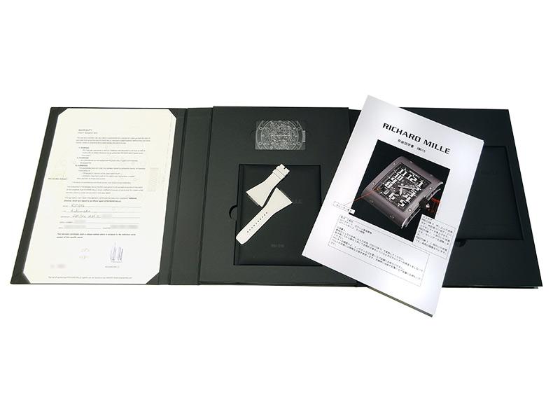 【中古】リシャールミル RM016 オートマティック エクストラフラット TI スケルトン文字盤 自動巻き レザー