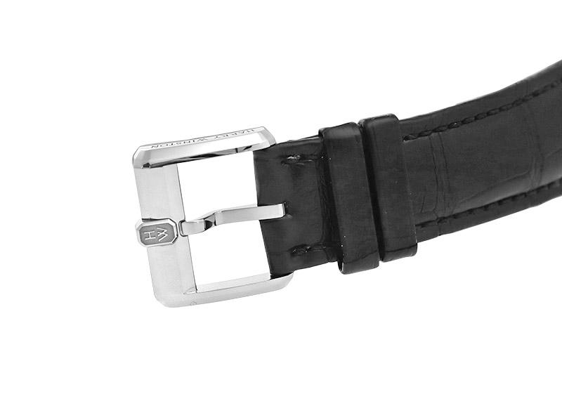 ハリーウィンストン MIDAMP42WW002 ミッドナイト ムーンフェイズ オートマティック 42mm WG 黒文字盤 自動巻き レザー