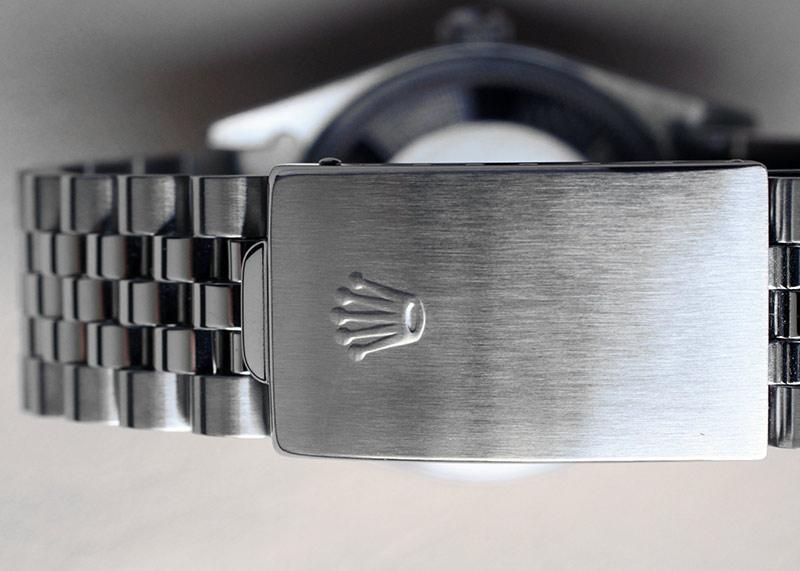 【中古】ロレックス 14010 オイスターパーペチュアル エアキング エンジンターンドベゼル SS シルバー文字盤 自動巻き ブレスレット【91年製】