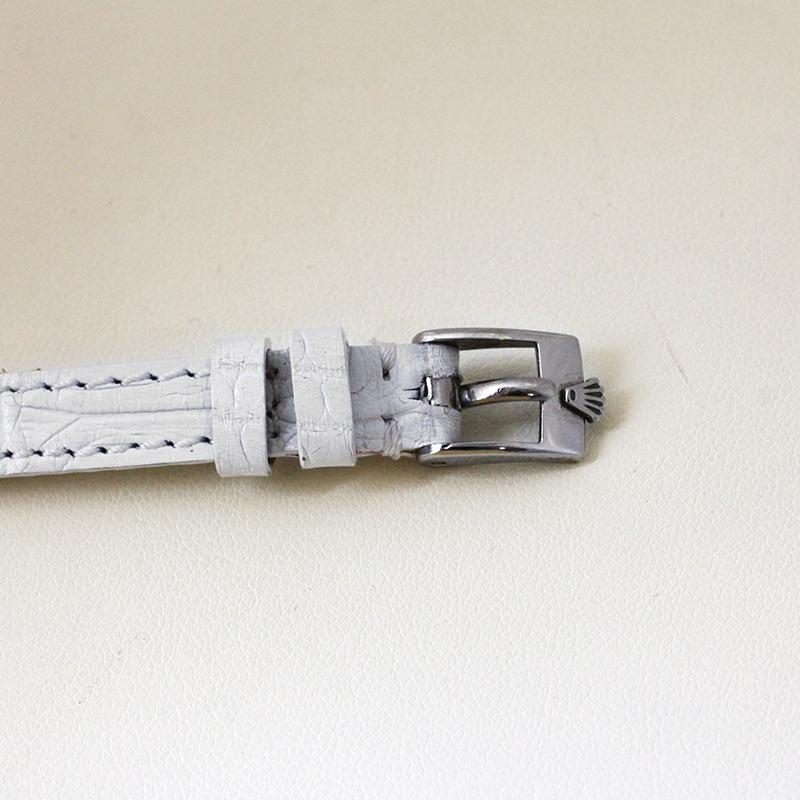 【ヴィンテージ】ロレックス 9810 レディース オーキッド 50's WG シルバー文字盤 手巻き レザー