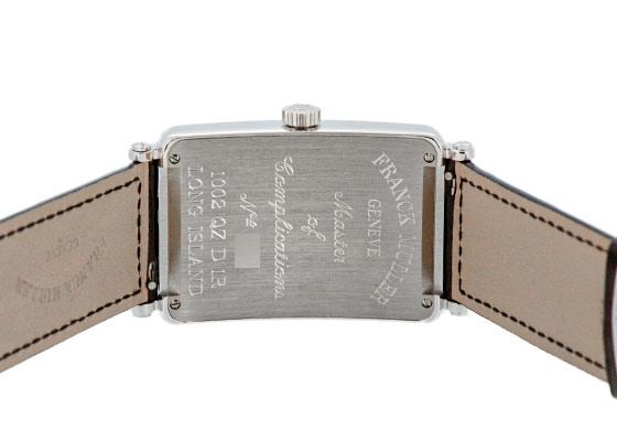 【未使用品】フランクミュラー 1002QZD ロングアイランド ダイヤモンドベゼル SS シルバー文字盤 クォーツ レザー