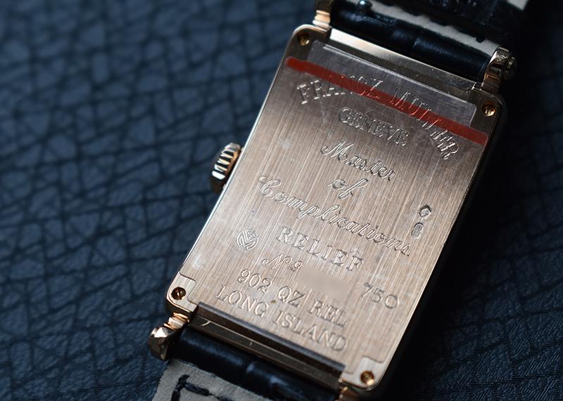 フランクミュラー 902QZ REL レディース ロングアイランド レリーフ RG シルバー文字盤 クォーツ レザー
