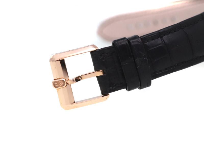 【新春特価】【未使用品】ハリーウィンストン MIDAMP42RR002 ミッドナイト ムーンフェイズ オートマティック 42mm RG 黒文字盤 自動巻き レザー