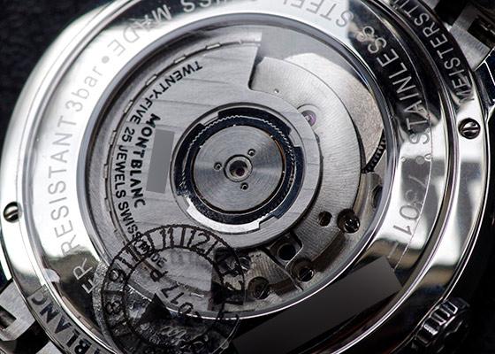 【未使用品】モンブラン MB111184 ヘリテイジ スピリット ムーンフェイズ SS シルバー文字盤 自動巻き ブレスレット