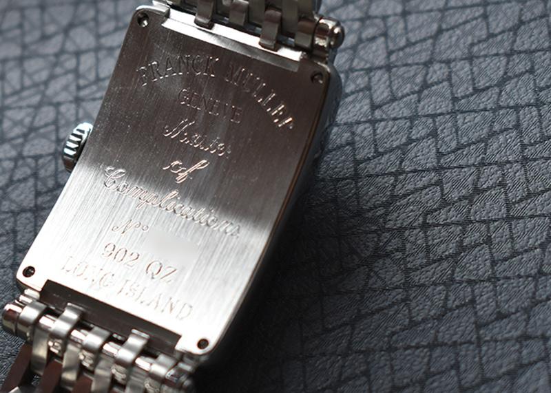 フランクミュラー 902QZ レディース ロングアイランド SS ブルー文字盤 クォーツ ブレスレット