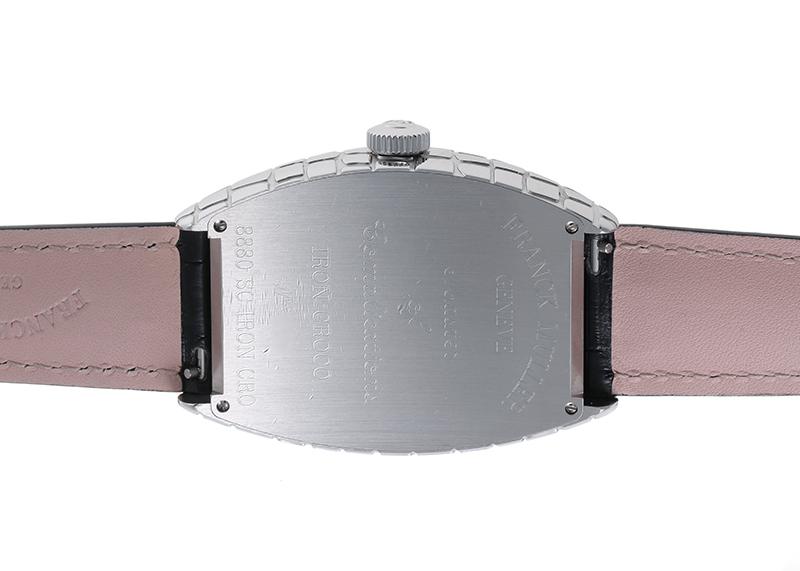 【中古】フランクミュラー 8880SC IRON CRO トノーカーベックス アイアンクロコ SS シルバー文字盤 自動巻き レザー