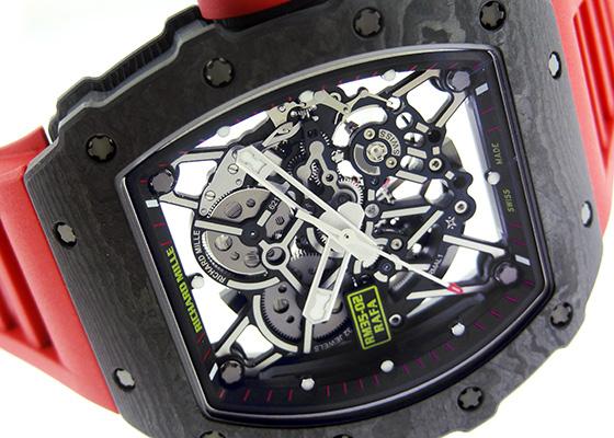 リシャールミル RM35-02 オートマティック ラファエル・ナダル カーボンTPT スケルトン文字盤 自動巻き ラバー