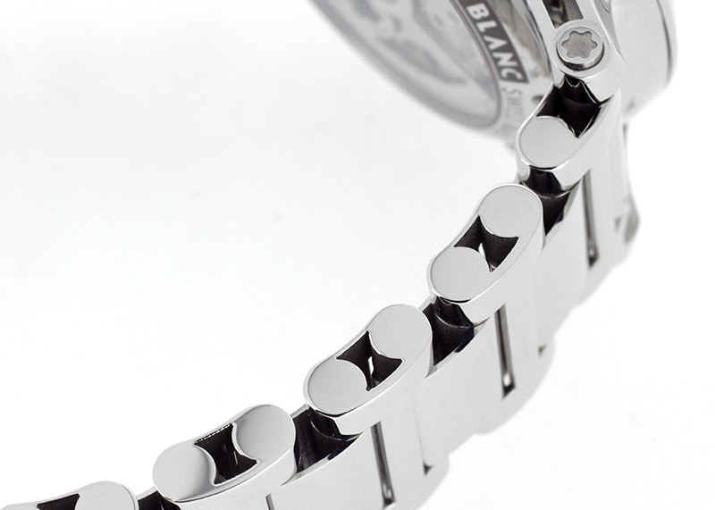 【未使用品】モンブラン 109133 タイムウォーカー ツインフライ クロノグラフ SS 白文字盤 自動巻き ブレスレット