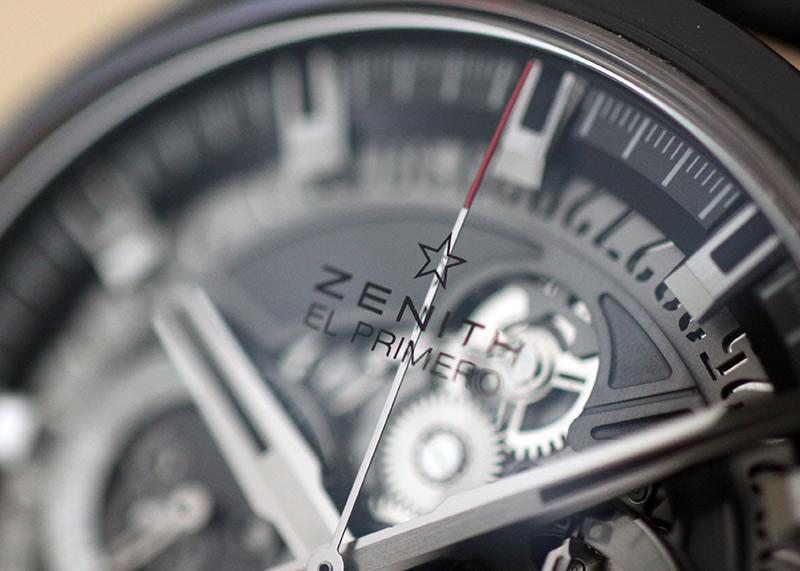 ゼニス 49.2520.400/98.R578 エルプリメロ スケルトン 45mm CE スケルトン文字盤 自動巻き ラバー