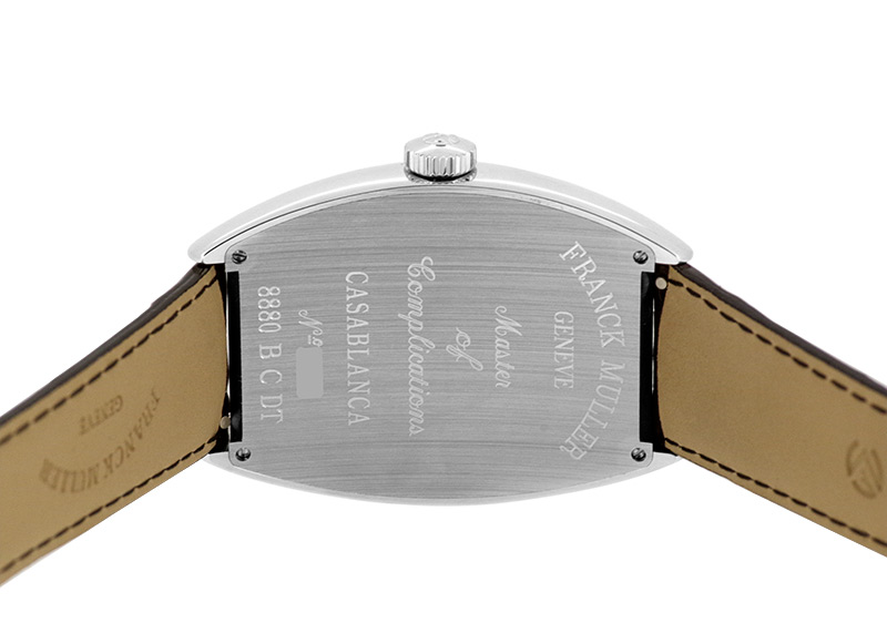 フランクミュラー 8880CDT カサブランカ デイト SS 黒文字盤(ギョーシェ) 自動巻き レザー