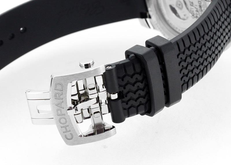 【中古】ショパール 168565-3001 ミッレミリア GTS オートマティック SS 黒文字盤 自動巻き ラバー