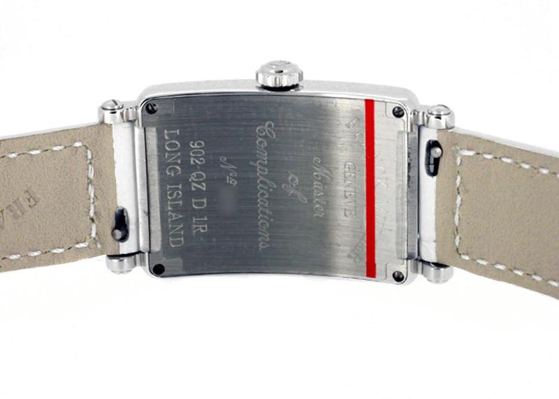 フランクミュラー 902QZD レディース ロングアイランド ダイヤモンド SS シルバー文字盤 クォーツ レザー