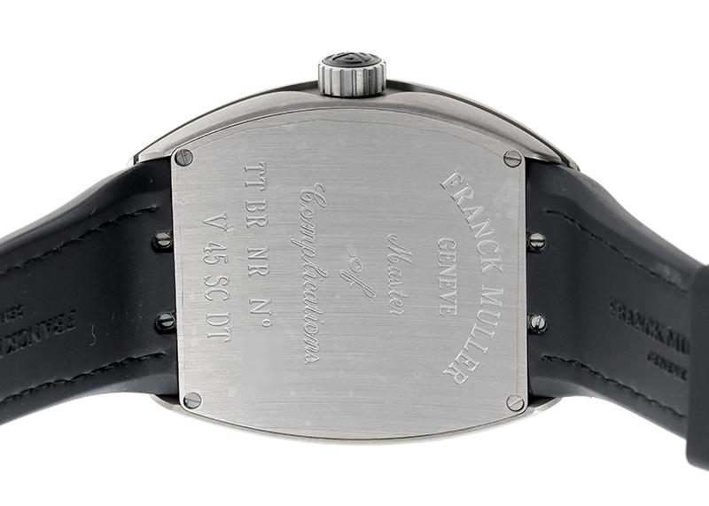 【中古】フランクミュラー V45SCDT TT BR NR N ヴァンガード TI 黒文字盤 自動巻き ラバー/アリゲーター