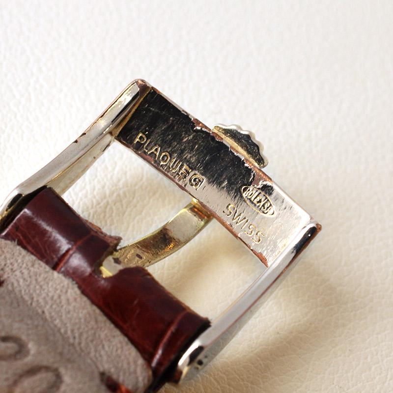 【ヴィンテージ】ロレックス チェリーニ YG ボルドー文字盤 手巻き レザー【1973年製】