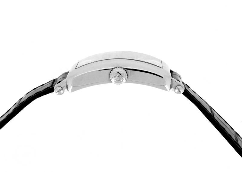 フランクミュラー 902QZ REL CD1R レディース ロングアイランド レリーフ ダイヤモンド SS シルバー文字盤 クォーツ レザー
