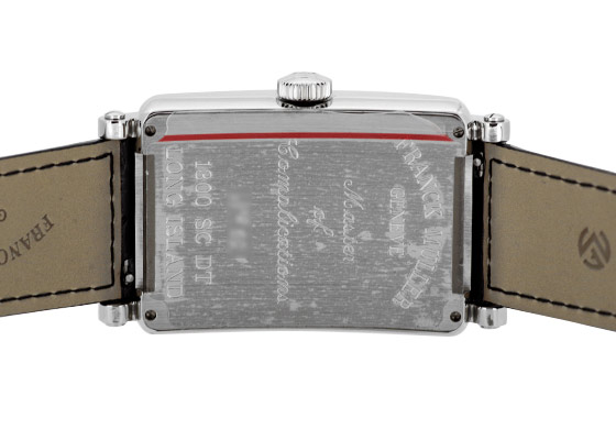 フランクミュラー 1300SCDT  ロングアイランド デイト SS シルバー文字盤 自動巻き レザー