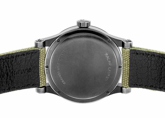 【未使用品】ラルフローレン RLR0250900 サファリRL67 クロノメーター39mm PVD 黒文字盤 自動巻き キャンバス