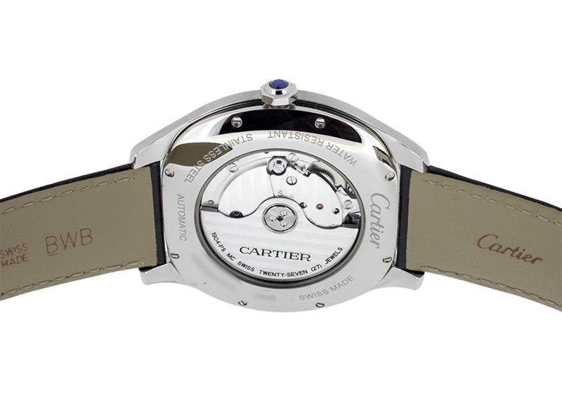 【中古】カルティエ WSNM0004 ドライブ ドゥ カルティエ SS シルバー文字盤 自動巻き レザー