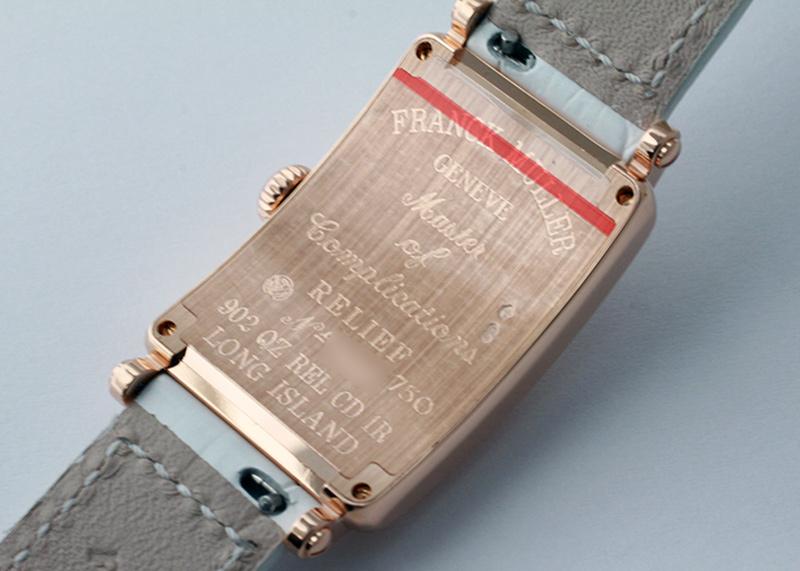 フランクミュラー 902QZ REL CD1R レディース ロングアイランド レリーフ ダイヤモンド RG シルバー文字盤 クォーツ レザー
