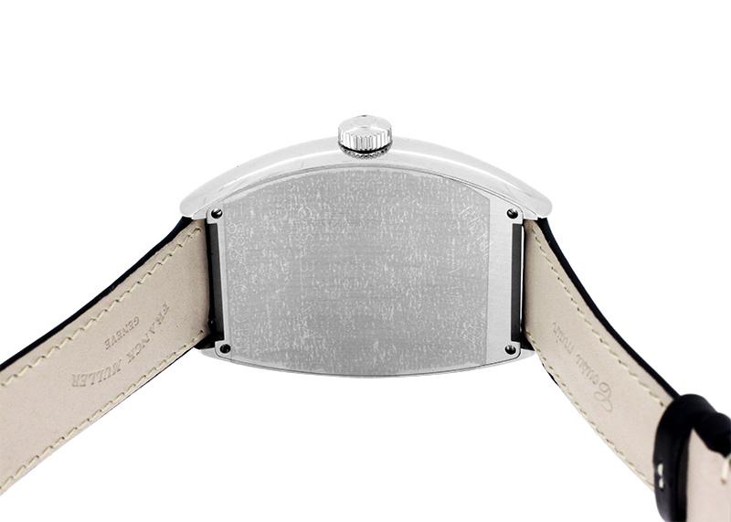 【中古】フランクミュラー 8880CDT カサブランカ デイト SS 黒文字盤 自動巻き レザー