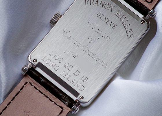 フランクミュラー 1002QZD ロングアイランド ダイヤモンドベゼル SS シルバー文字盤 クォーツ レザー