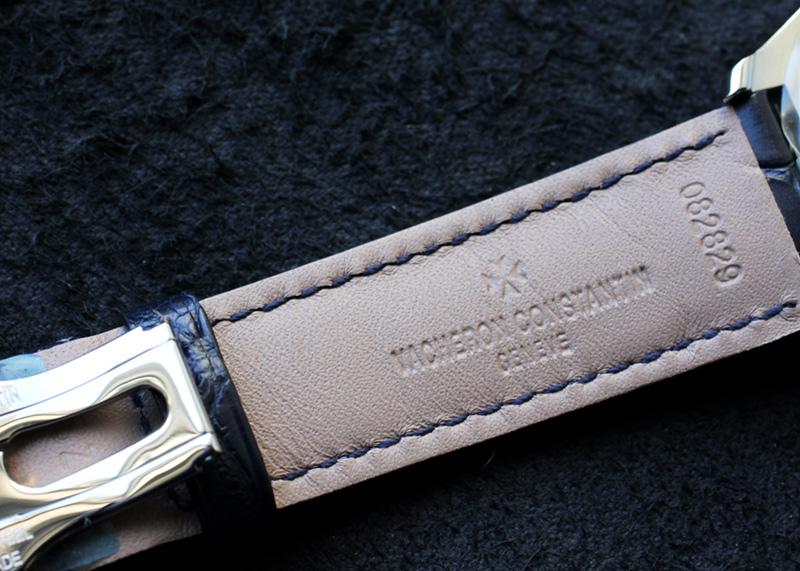 ヴァシュロンコンスタンタン 4600E/000A-B487 フィフティーシックス オートマティック SS ブルー文字盤 自動巻き レザー
